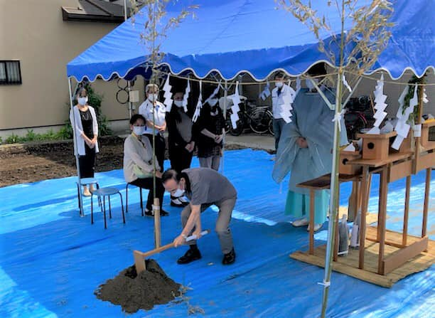 地鎮祭【鍬入れの儀】